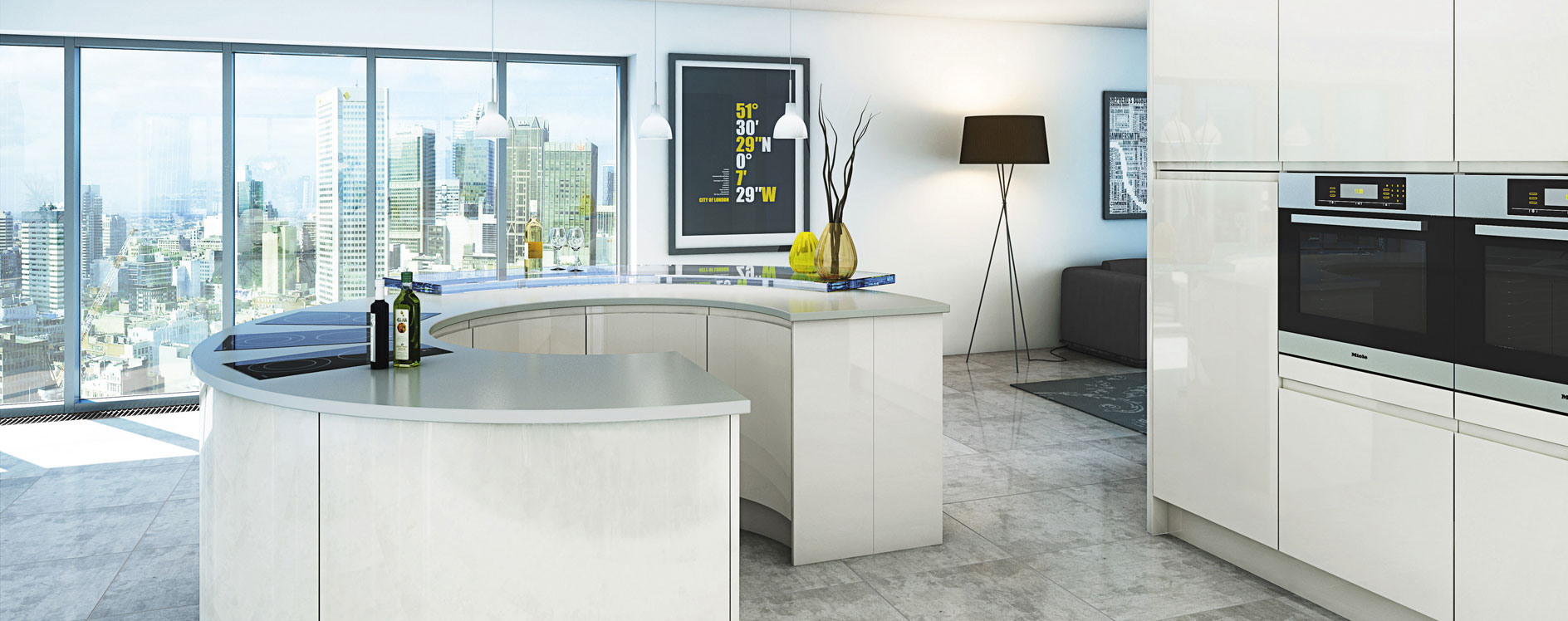Modern kitchens worcestershire malmo gloss kitchen for Modern gloss kitchen cabinets