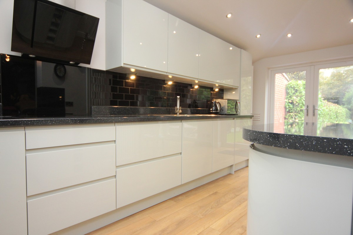 Kitchen Granite Worktop White Contemporary Kitchen With Granite Worktops Worcester