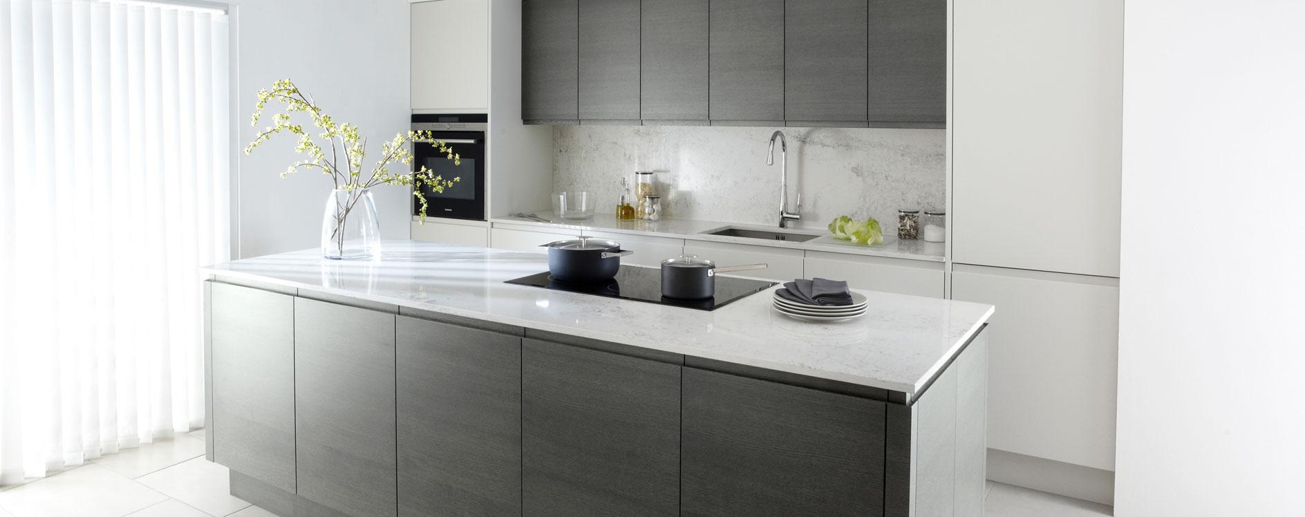 Bromsgrove Kitchen Specialists Modern Matt Malmo Kitchen - Matt grey kitchen units